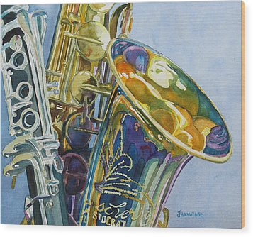New Orleans Reeds Wood Print by Jenny Armitage