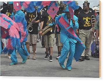 New Orleans Second Line Wood Print by Diane Lent