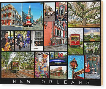 New Orleans Wood Print by Steve Harrington