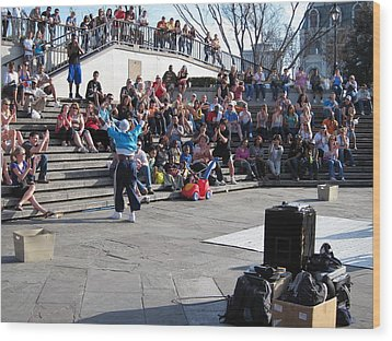 New Orleans - Street Performers - 12123 Wood Print by DC Photographer
