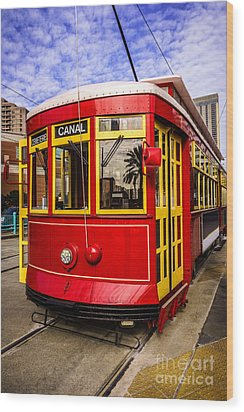 New Orleans Streetcar  Wood Print by Paul Velgos