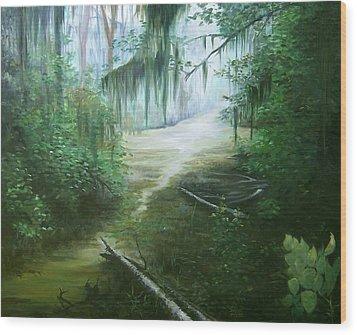 New Orleans Swamp Wood Print by Susan Moore