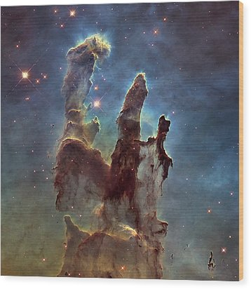 New Pillars Of Creation Hd Square Wood Print by Adam Romanowicz