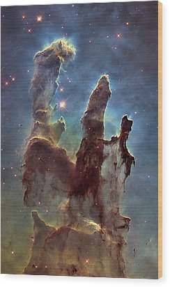 New Pillars Of Creation Hd Tall Wood Print by Adam Romanowicz