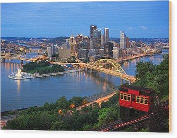 Pittsburgh Summer  Wood Print by Emmanuel Panagiotakis