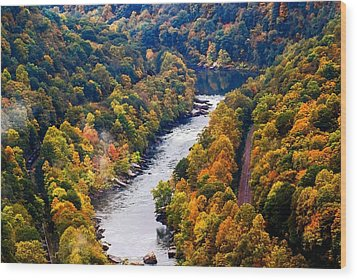 New River Gorge Wood Print
