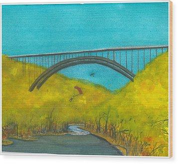 New River Gorge Bridge On Bridge Day Wood Print