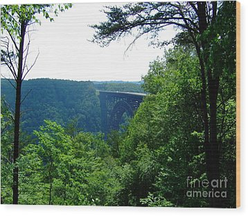 Wood Print featuring the photograph New River Gorge by Deborah DeLaBarre