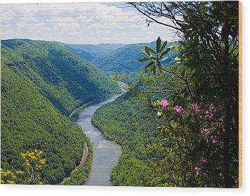 New River View Wood Print