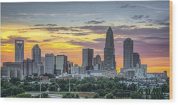 New South Summer Sunset Wood Print by Brian Young
