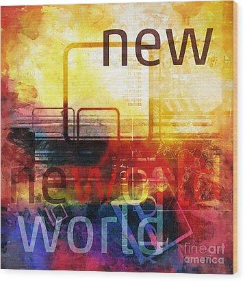 New World Wood Print by Lutz Baar