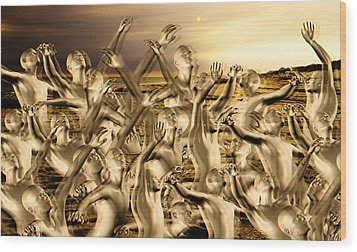 New World Surrender Wood Print by Betsy Knapp