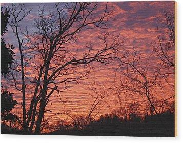 New Year Eve Sunrise Wood Print by Teresa Mucha