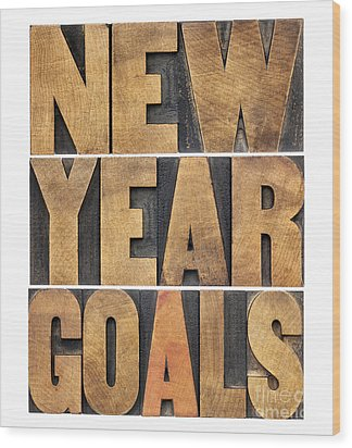 Wood Print featuring the photograph New Year Goals by Marek Uliasz
