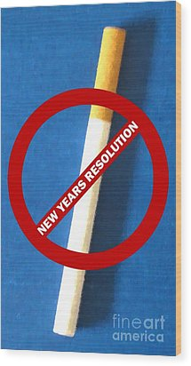 New Years Resolution Wood Print by Margaret Newcomb