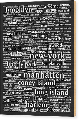 New York 20130709bw Wood Print by Wingsdomain Art and Photography
