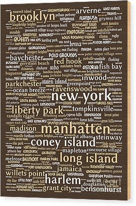 New York 20130709bwwa85 Wood Print by Wingsdomain Art and Photography