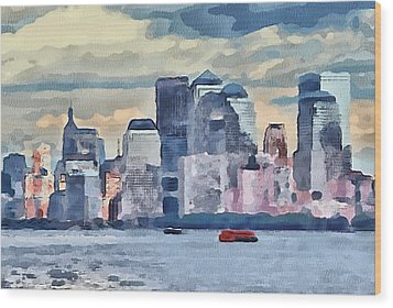 New York 7 Wood Print by Yury Malkov