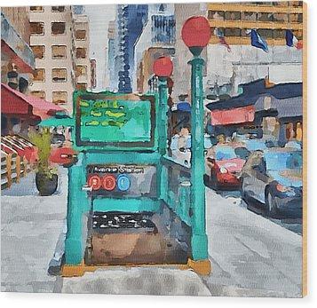 New York 8 Wood Print by Yury Malkov