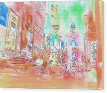 New York Abstract Wood Print by Tom Gowanlock