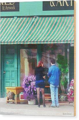 New York - Antique Shop Canandaigua Ny Wood Print by Susan Savad
