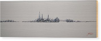 New York City 2013 Skyline 20x60 Wood Print