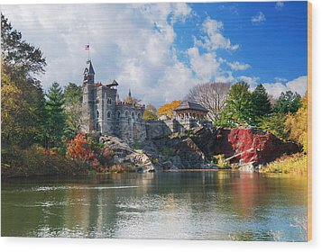 New York City Central Park Belvedere Castle Wood Print