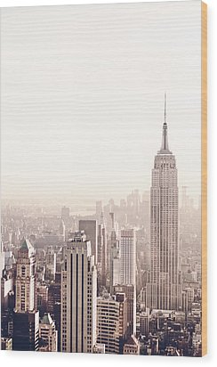 New York City - Empire State Building Wood Print by Vivienne Gucwa