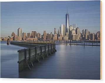 New York City Financial District Wood Print by Susan Candelario