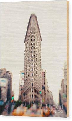New York City Flatiron Building Wood Print