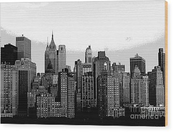 New York City Wood Print by Kathleen Struckle