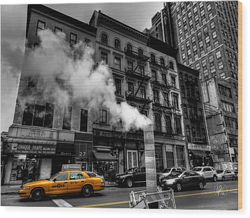 New York City - Lower Manhattan 006 Wood Print by Lance Vaughn