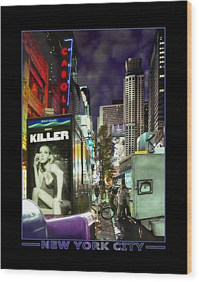 New York City Wood Print by Mike McGlothlen