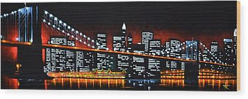 New York City Panaroma Wood Print