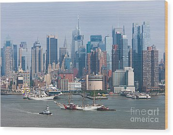 New York City Parade Of Sail I Wood Print by Clarence Holmes