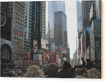 New York City - Sights Of The City - 12121 Wood Print by DC Photographer