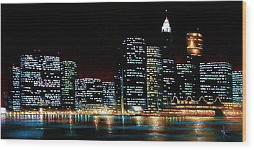 New York City Skyline 2 Wood Print