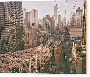 New York City Skyline - Above The City Wood Print by Vivienne Gucwa