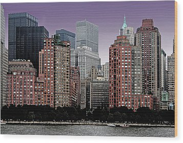 Wood Print featuring the photograph New York City Skyline Image by Christopher McKenzie