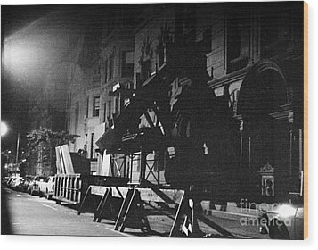 Wood Print featuring the photograph New York City Street by Steven Macanka