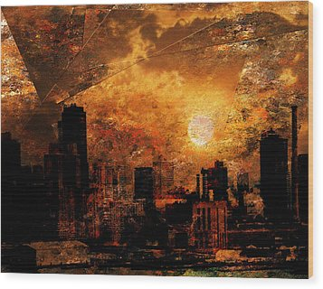 New York City Sunrise Wood Print