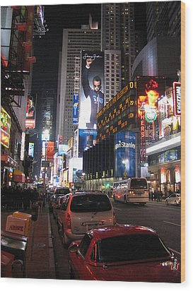 New York City - Times Square - 121224 Wood Print by DC Photographer