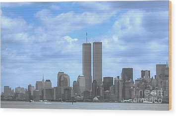 New York City Twin Towers Glory - 9/11 Wood Print