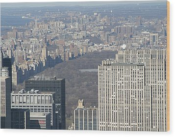 New York City - View From Empire State Building - 121211 Wood Print by DC Photographer