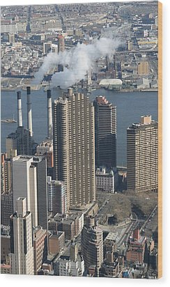 New York City - View From Empire State Building - 121215 Wood Print by DC Photographer