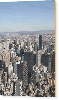 New York City - View From Empire State Building - 121217 Wood Print by DC Photographer