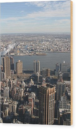New York City - View From Empire State Building - 121219 Wood Print by DC Photographer