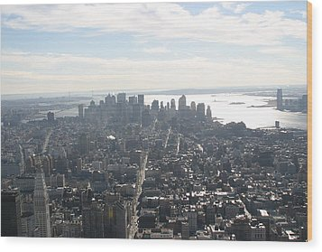 New York City - View From Empire State Building - 121222 Wood Print by DC Photographer