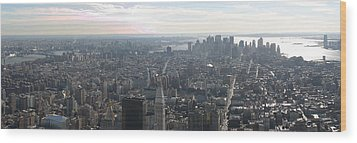 New York City - View From Empire State Building - 121235 Wood Print by DC Photographer