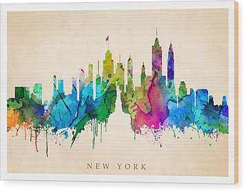 New York Cityscape Wood Print